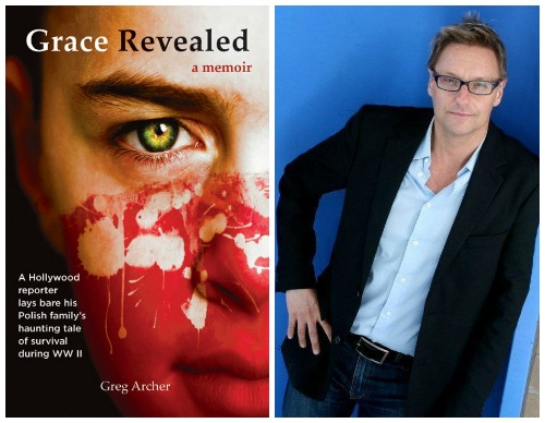 book cover and author headshot of Greg Archer and his memoir Grace Revealed