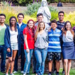 Students from the Peace and Justice Club at Holy Names University